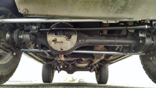 Customer vehicle (Land Rover D1) with Sumo bars fitted.