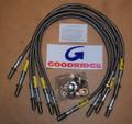 """Goodridge Steel Braided Brake Lines (hoses), 4"""" extended – 4-49004 – Range Rover Classic (US spec)"""