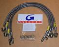 "Goodridge Steel Braided Brake Lines (hoses), 4"" extended – SLR0107-4P+4 – Land Rover Discovery 1 (US spec)"