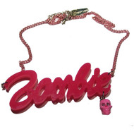 "KREEPSVILLE ""Zombie"" Barbie Necklace - Pink"