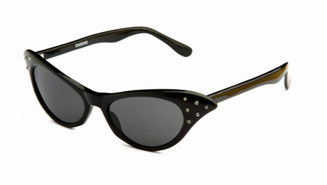 Trash Monkey ** Diamond Black Retro Sunglasses