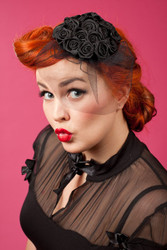 """Frederica"" Rose Fascinators"