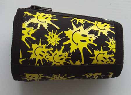 Trash Monkey** Itz Arm Wallet Yellow Smiley- Black