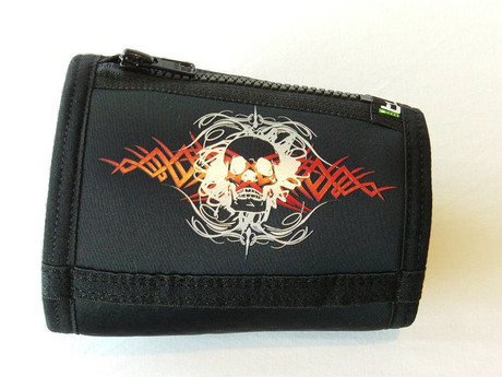 Trash Monkey** ITZ Arm Wallet Gothic Skull - Black