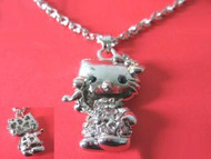 Hello Kitty with Crystals Necklace