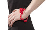 Sanrio Hello Kitty Head Bangle - Red