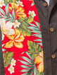 Steady Clothing - Hibiscus Tiki Panel Button Up in Charcoal Mens Bowler Shirt