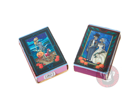 Trash Monkey ** Mexican Mini Match Box ~ Day of the Dead or Frida Designs