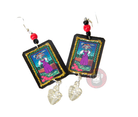 Trash Monkey **  Day of the Dead Earrings
