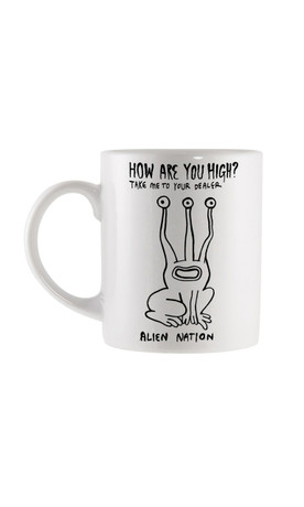 Trash Monkey ** Disturbia - High Mug High Alien Mug