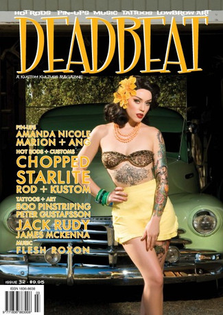Trash Monkey ** Deadbeat Magazine - Issue 32  PIN-UPS: Amanda Nicole, Marion, Ang  HOT RODS + CUSTOMS: 1948 Chevrolet Fleetline, Chopped Hot Rod Show Coverage, Starlite Rod + Kustom Shop Feature, Jack Rudy's truck  TATTOOS: James McKenna, Jack Rudy  ART: Boo Pinstriping, Peter Gustafsson  MUSIC: Flesh Roxon  Sabina Kelley's Soapbox and more!!!  Released December 2014