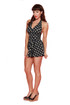 Trash Monkey ** Bettie Page - Marilyn Dress Swimsuit in Black Polkadot