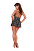 Trash Monkey ** Halterneck Black & White Polkadot Frilly Swimsuit Dress
