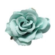 Trash Monkey ** Mint Green Rose Flower Hair Clip