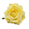 Trash Monkey ** Light Yellow Rose Flower Hair Clip