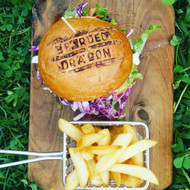 The Great Pretender Vegetarian Burger & Chips  Meal