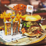 The Sticky Swine Burger & Chips Meal