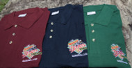 Bearded Dragon Button Collar Polo Shirt with quality embroidered Bearded Dragon Tamborine Logo Patch on front of polo. Available in assorted colours and sizes.  These are good quality fabric. Awesome Tamborine Merchandise while stocks last.