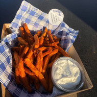Sweet potato fries and aioli