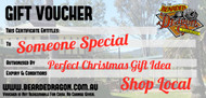 Show someone you love them with a gift voucher at Bearded Dragon Hotel. Support a small Independently owned Australian Business by shopping local Tamborine Gold Coast Queensland Business. Best Christmas Voucher and no need to worry about the gift not arriving on time. Fast Delivery Online Guaranteed