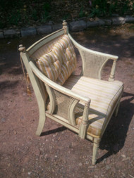 Vintage Caned Arm Chair