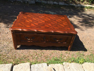 French Provincial Checkered Cherry Coffee Table