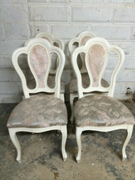 4 White French Style Side Chairs