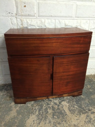 Curved Mahogany Server