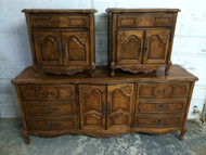 Pair of French Provincial Nightstands by Stanley