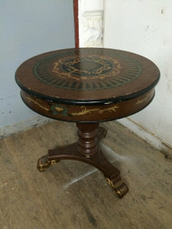 Vintage Painted Round Foyer Table