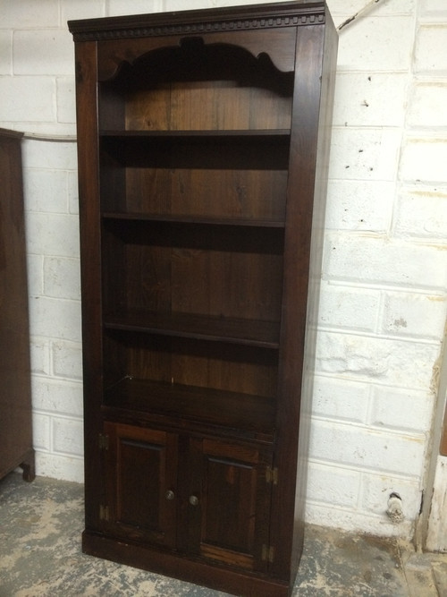 Solid Dark Pine Bookcase Forgotten Furniture