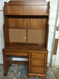 Oak Desk w/ Hutch