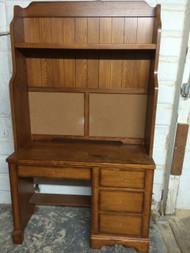 Oak Desk w/ Hutch