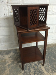 Antique Mahogany Carousel End Table