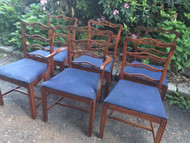 Set of 6 Cherry Ladderback Dining Chairs