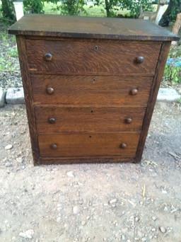 Antique Tiger Oak 4 Drawer Dresser Forgotten Furniture