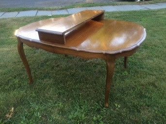 1962 Cherry French Provincial Dining Table by Thomasville