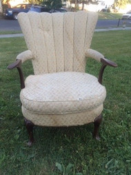 Fluted Back Cherry Arm Chair