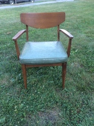 MCM Walnut Arm Chair