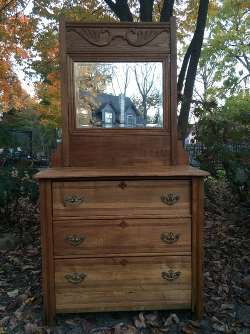 Antique Eastlake 3 Drawer Dresser W Mirror Forgotten