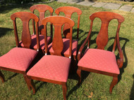 Set of 5 American Drew Cherry Dining Chairs