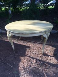 Victorian Mint Green Clawfoot Table w/ Dark Glaze