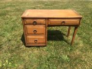 Vintage Modern 4 Drawer Oak Desk