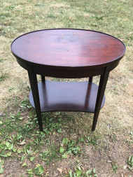 Oval Mahogany Side Table