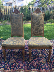 Pair of Oak French Throne Chairs