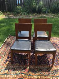 Set of 4 Modern Cherry Chairs