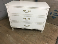 White French Provincial 3 Drawer Dresser