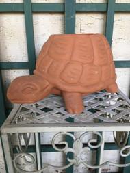 Terra Cotta Turtle Planter Pot