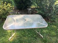 Rectangular Glass Patio Table