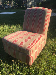 Pottery Barn Stripped Accent Chair